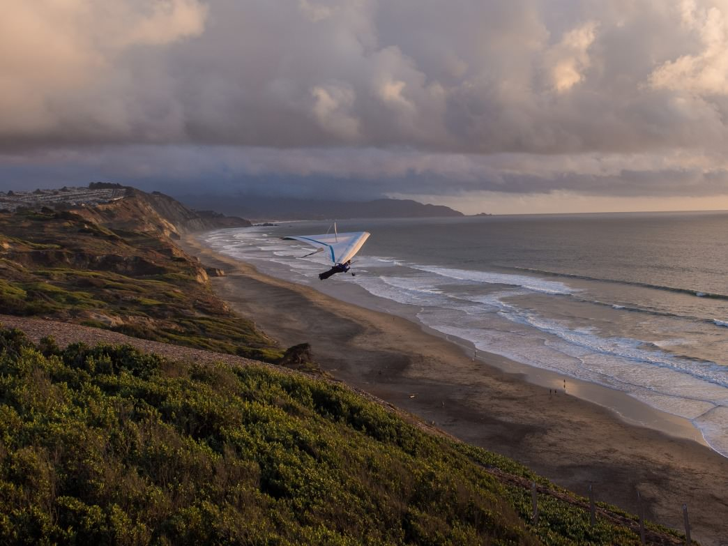 Fort Funston is a hang gliding mecca.