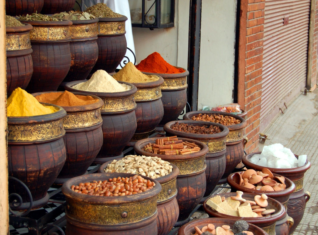 Morocco is know for the wide variety of spices used in cooking.