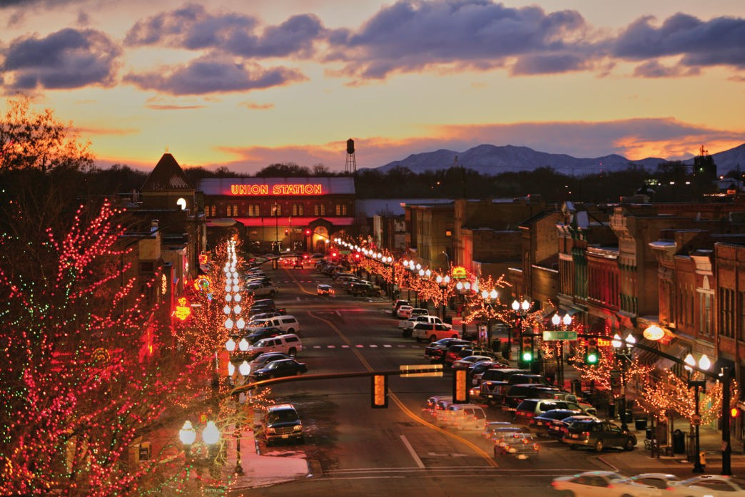 You can spend the day shopping on historic 25th Street in Ogden.     Photo courtesy of Ski Utah