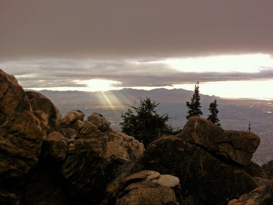 The summit of Mt. Olympus is stunning especially when the sun drops low.