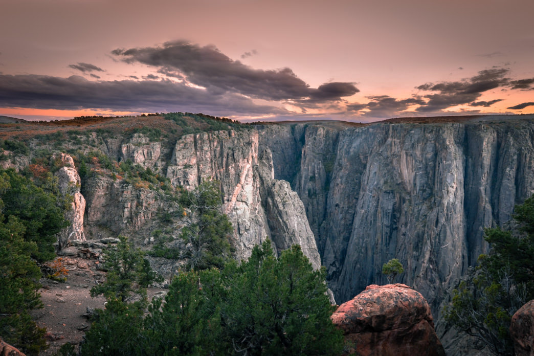 The imposing rim of the Black Canyon of the Gunnison.
