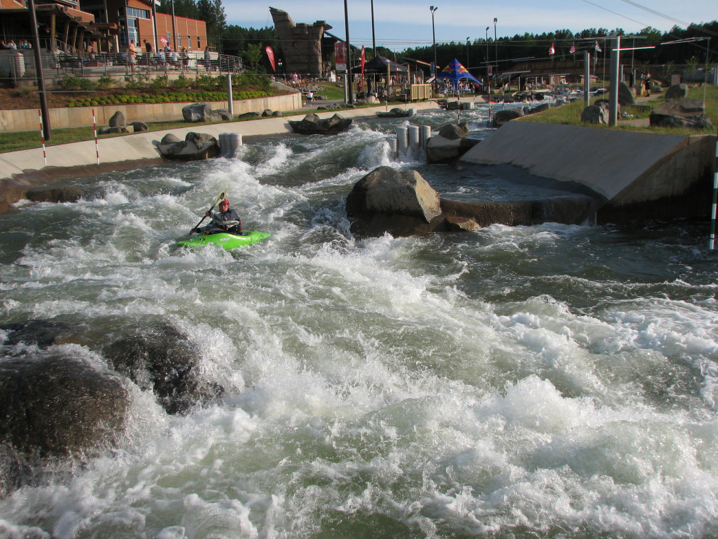 Compete at the Turkey Chute paddling event at the U.S. National Whitewater Center this fall.