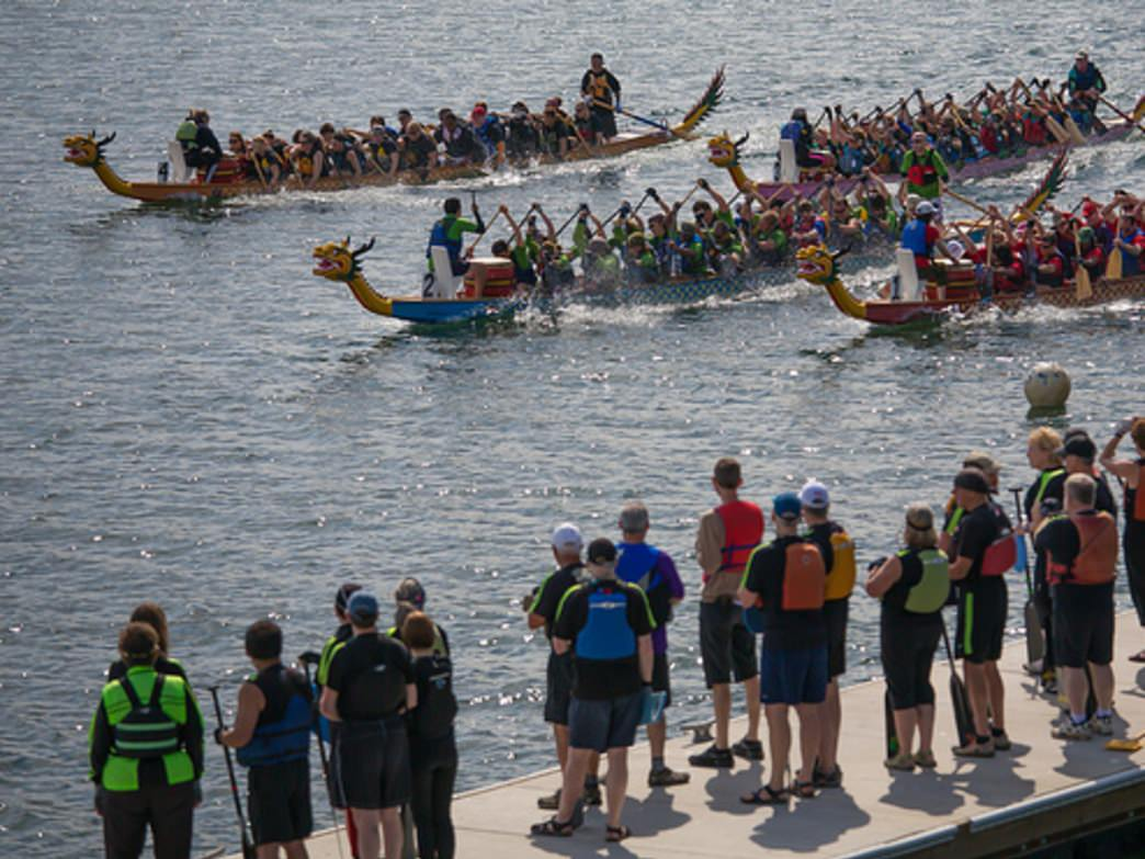 Dragon boat paddling is a popular sport in Portland; more than 40 teams compete in local and regional races throughout the year.