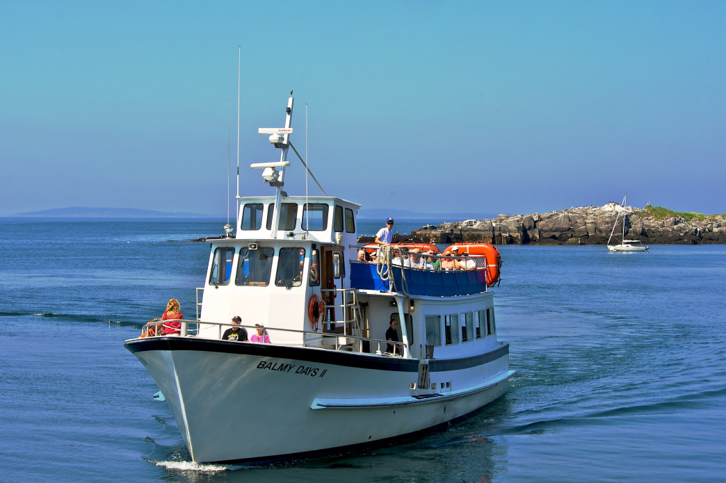 The island is accessible only by boat, so make sure to book your ferry through Monhegan Boat Line.