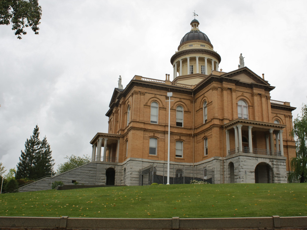 Stately Auburn Courthouse is one of many beautiful buildings in Old Town.