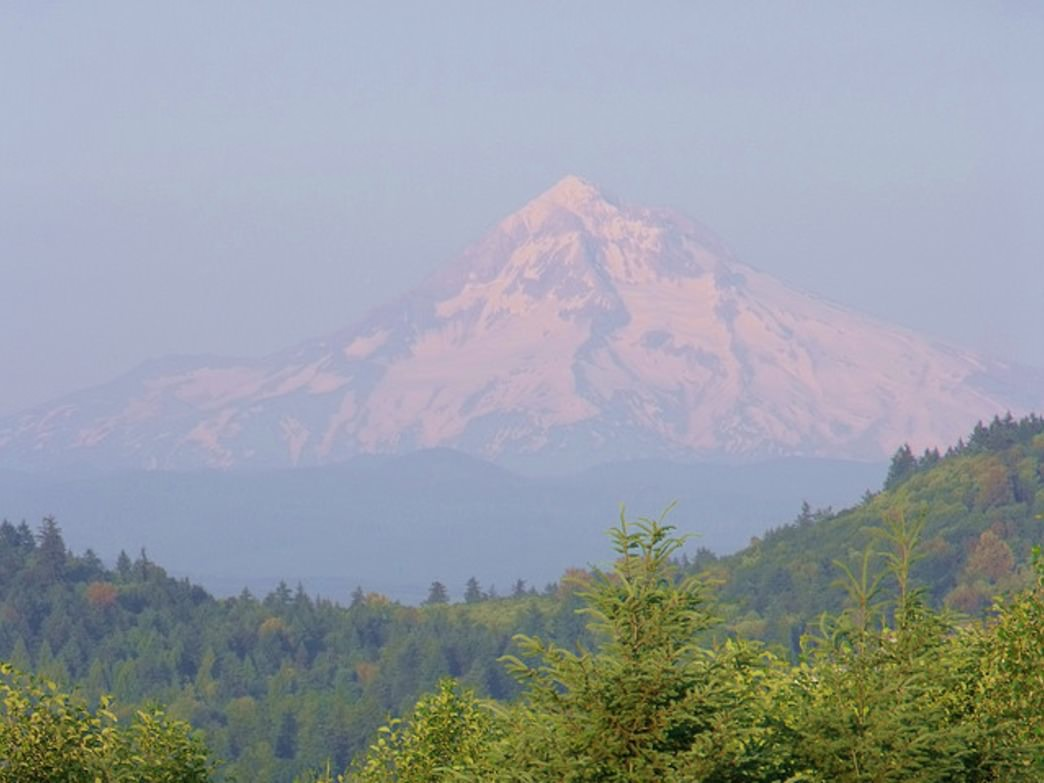 Powell Butte is a popular place to enjoy sunset views of Mount Hood.