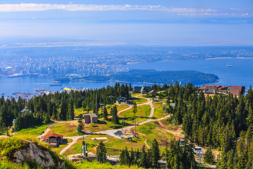 Grouse Mountain offers a mix of invigorating outdoor recreation opportunities and stunning views of Vancouver.