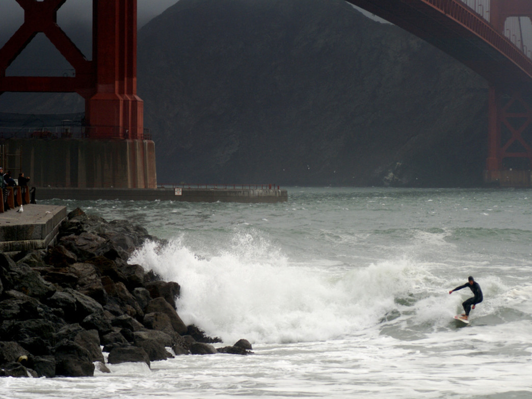 If there's a break, Fort Point can be a fantastic spot to catch some waves.