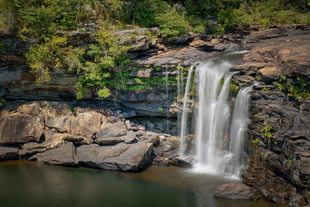 Little River Falls in Little River Canyon is one of Alabama's most scenic waterfalls..
