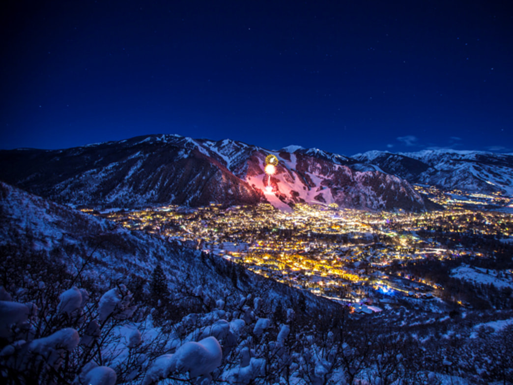 These are fireworks in Aspen, but Vail has some pretty good ones too.