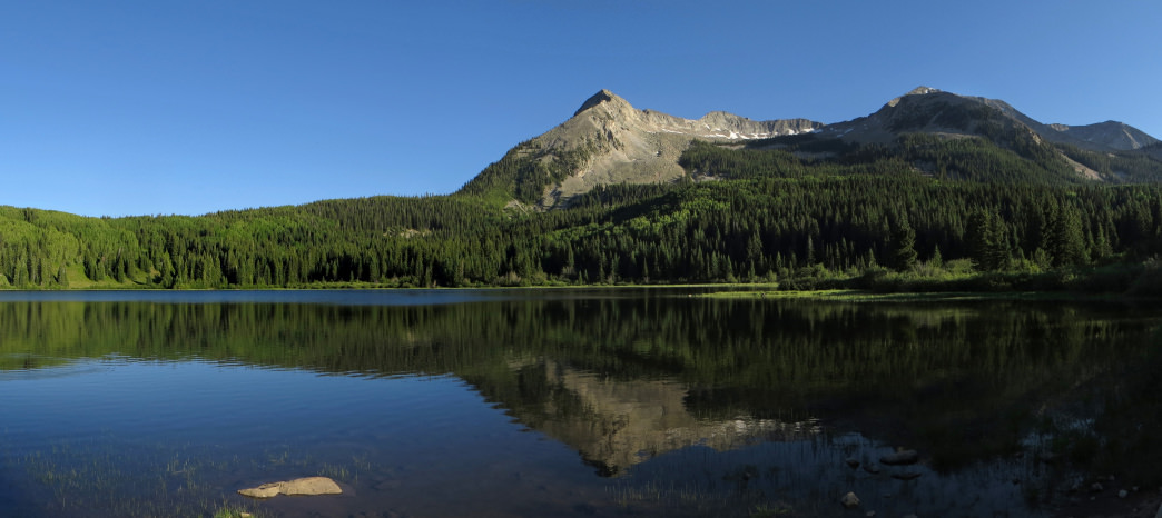 Walk the Lost Lake Trail, named for the narrow lake hidden in a talus field.