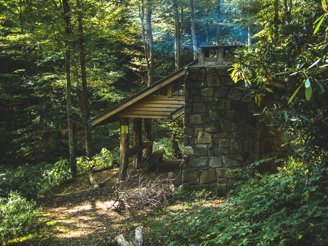 The Cosby Knob Shelter will make you feel like an AT thru-hiker for a night.