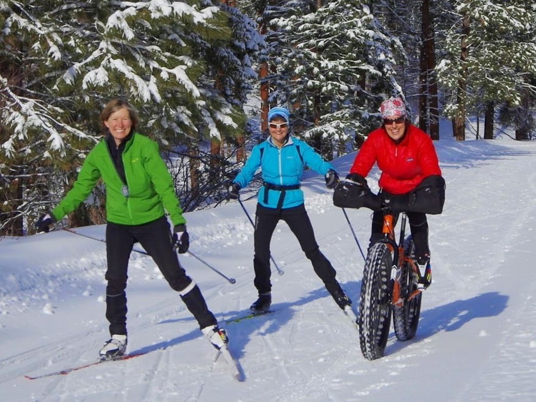 Fat bikers are the newcomers to Nordic areas. Be sure to respect their space accordingly!