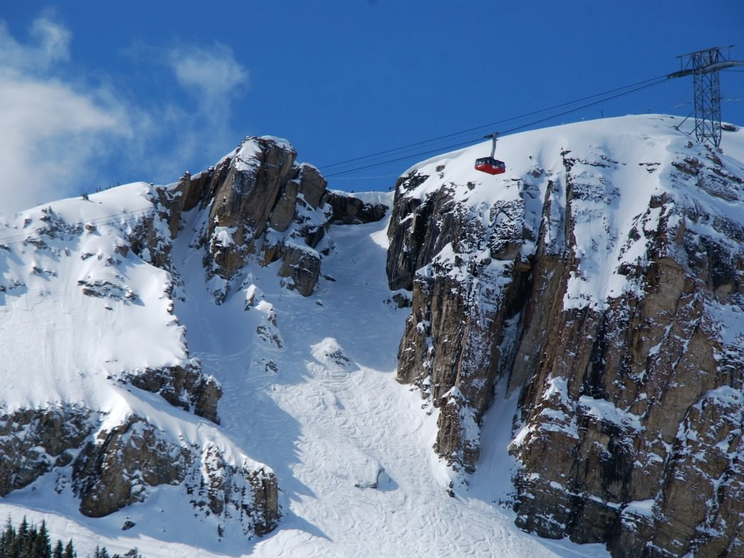 When you drop into Corbet's Couloir at Jackson Hole Mountain Resort, your moves are on display for the onlookers at the top to see as well as the 100 people riding the Aerial Tram.