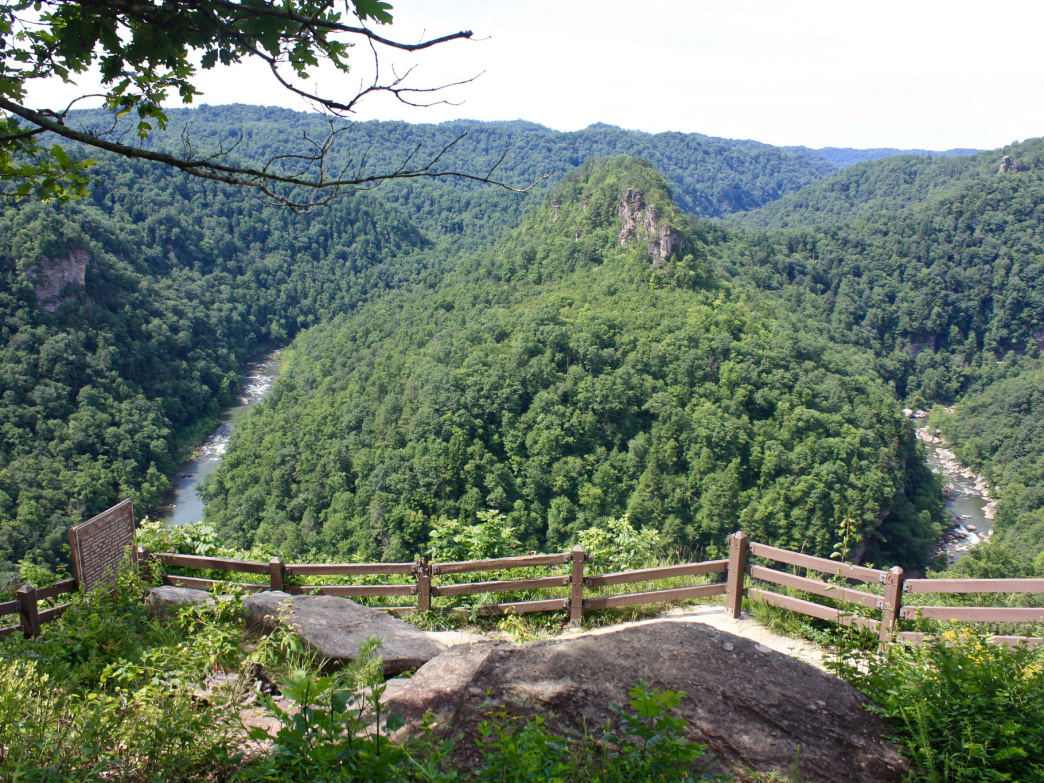 A view of Breaks Canyon from the Towers Overlook in Breaks Interstate Park