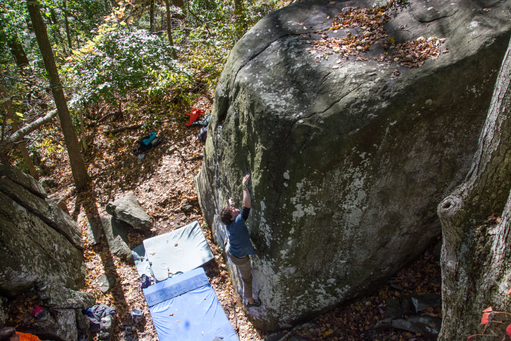 Mount Gretna is a great place for any level climber, with boulder problems ranging from V0 to V11.