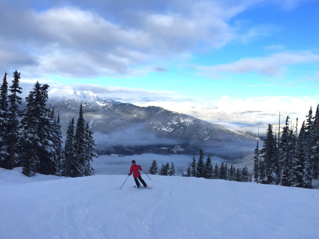 Intermediate level skiers will find plenty to keep them busy at Whistler Blackcomb.