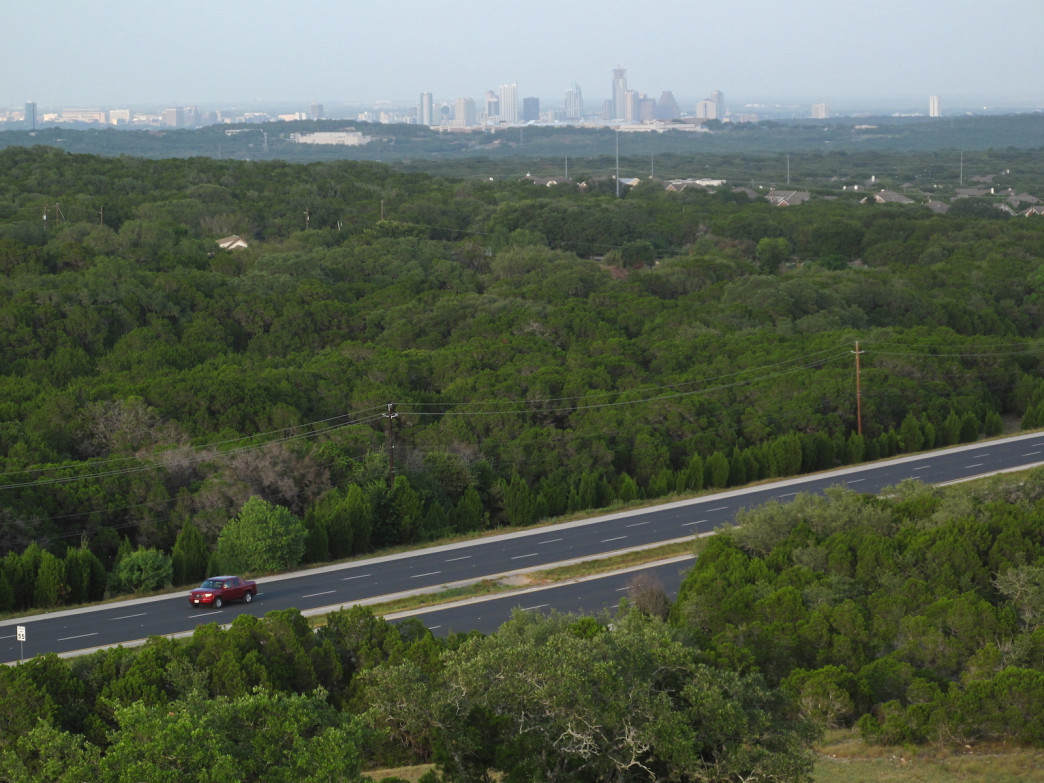 Austin's skyline from Southwest Parkway