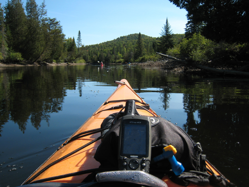 Paddling in the Adirondacks on the Raquette River.