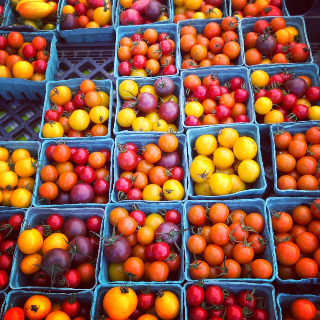 Cherry tomatoes at the Johnson City Farmers Market.