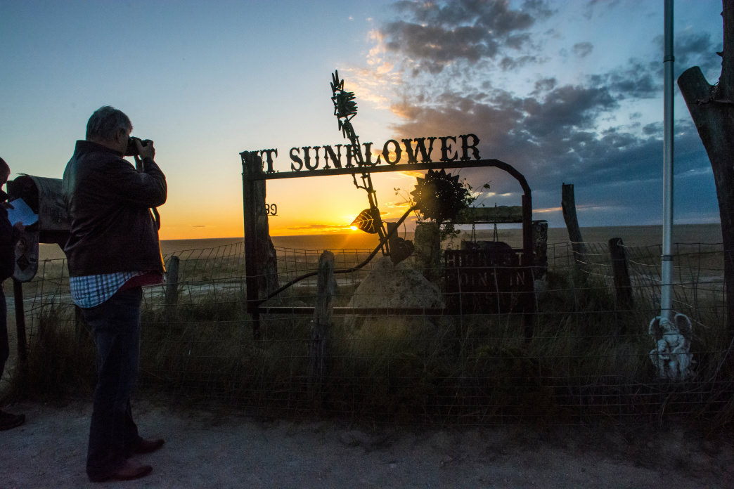 Take a detour to Mount Sunflower, the highest point in the entire state.
