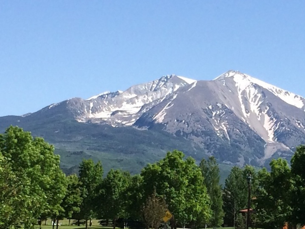 From Carbondale, Sopris looks like a massive pile of rock.