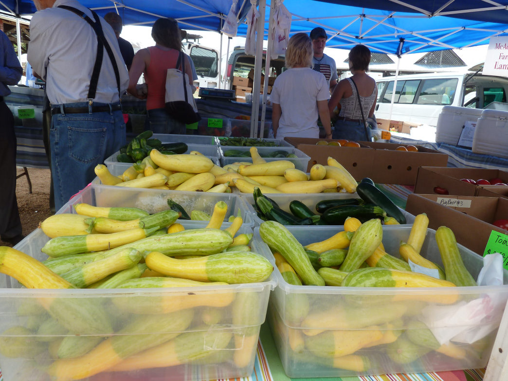 Dozens of vendors bring local produce, meats, and goods to the Carborro Farmers Market every week.