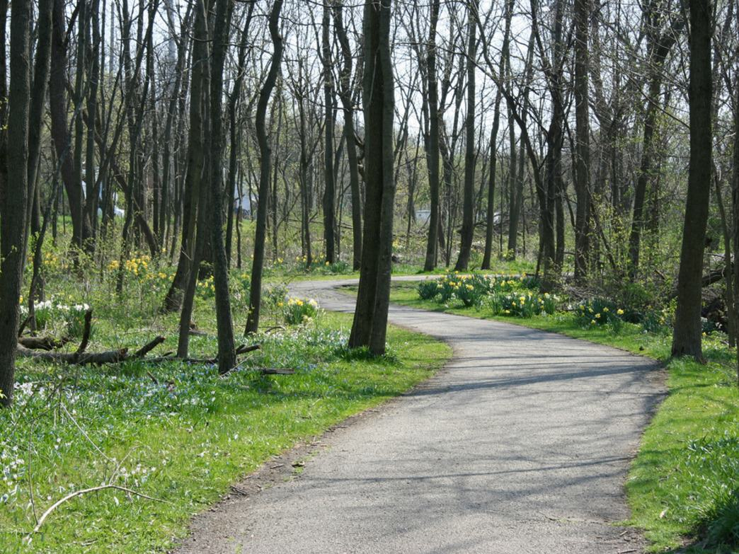 The paved Fox River Trail stretches from Algonquin to Oswego.