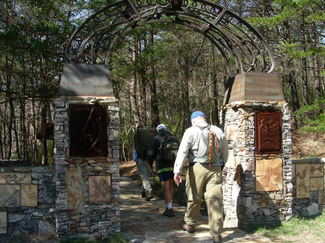 Hikers head out on the Pinhoti Trail, Alabama's long trail, which is part of the GET.