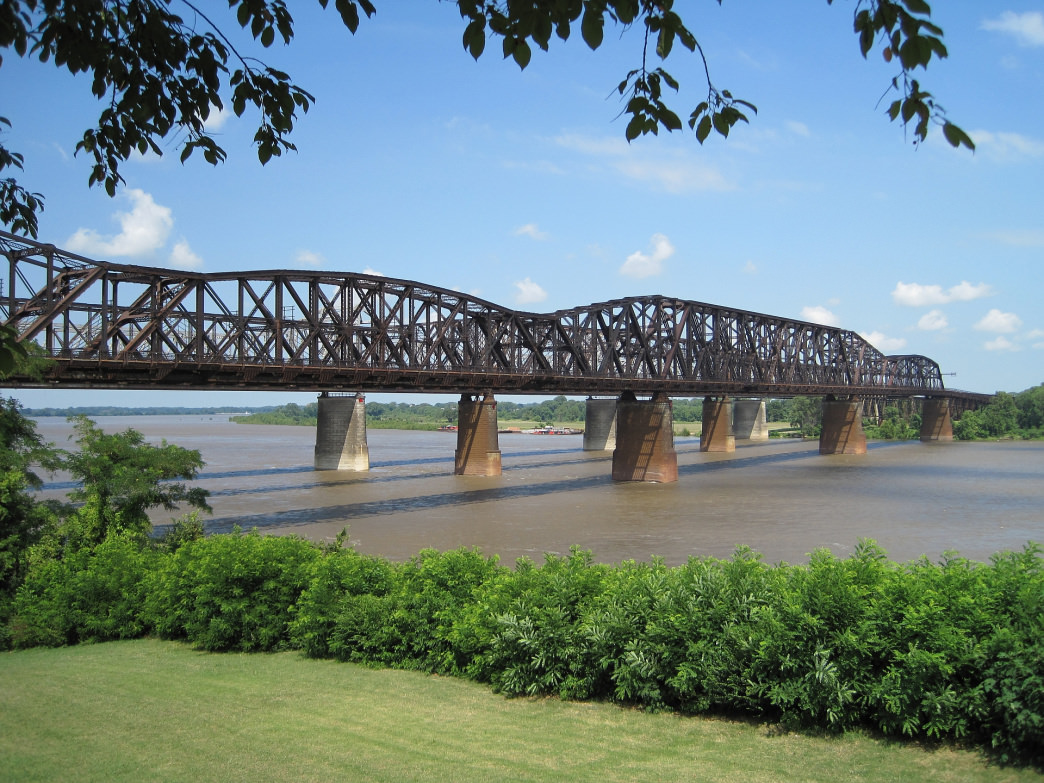 You'll cross the Harahan Bridge over the mighty Mississippi River to get to Arkansas.