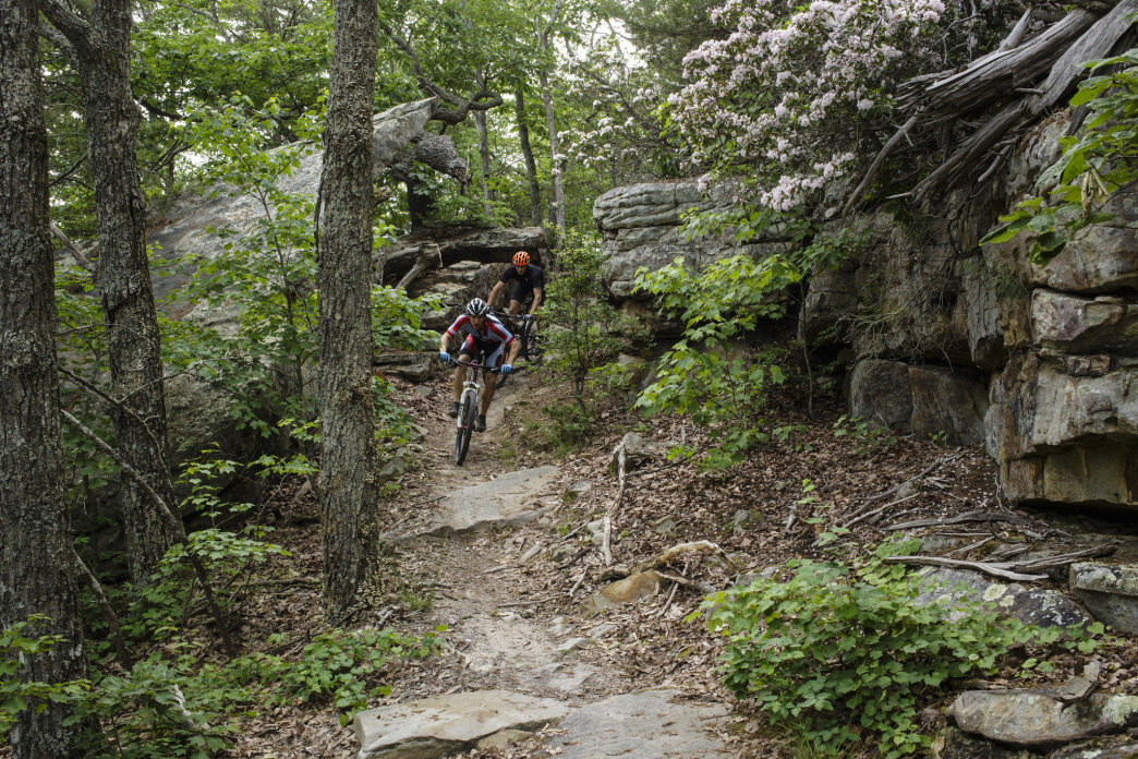 You'll find more than 30 miles of singletrack at Raccoon Mountain.     Jeff Bartlett