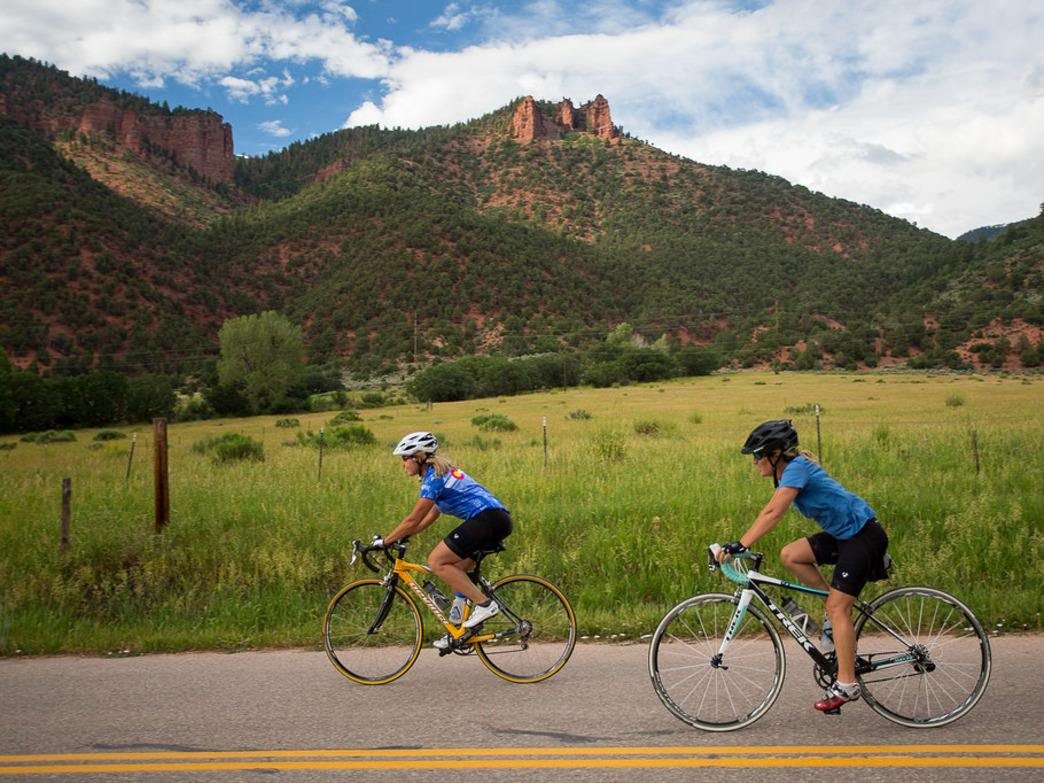 Cyclists flock to Colorado for the stunning scenery.