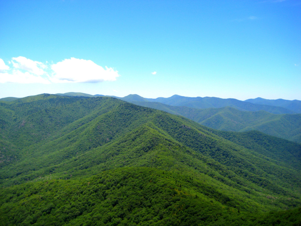 The view from the summit of Cold Mountain.