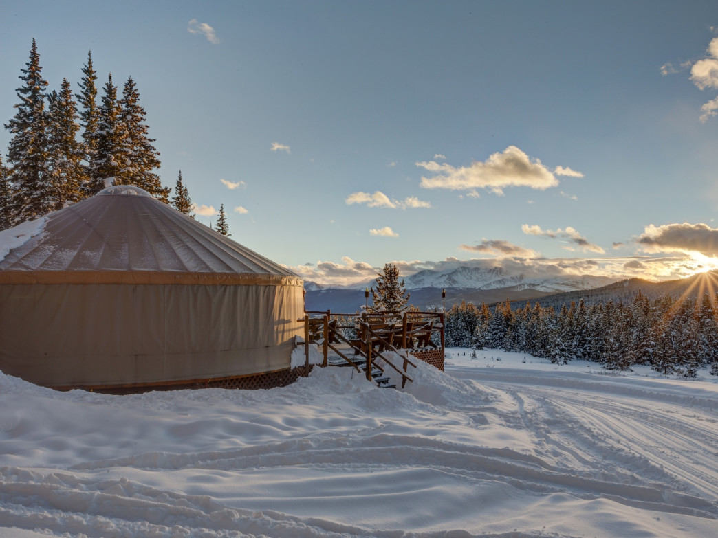 The Tennessee Pass Cookhouse is a backcountry yurt with commanding views.