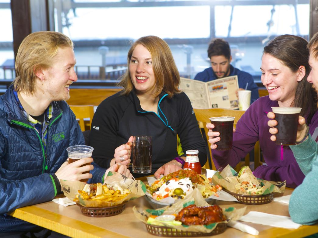 Enjoy a craft beer and good food after a fun day on the slopes.