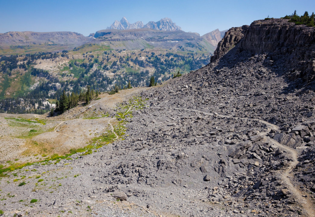 The Teton Crest Trail is best run south to north for the views.