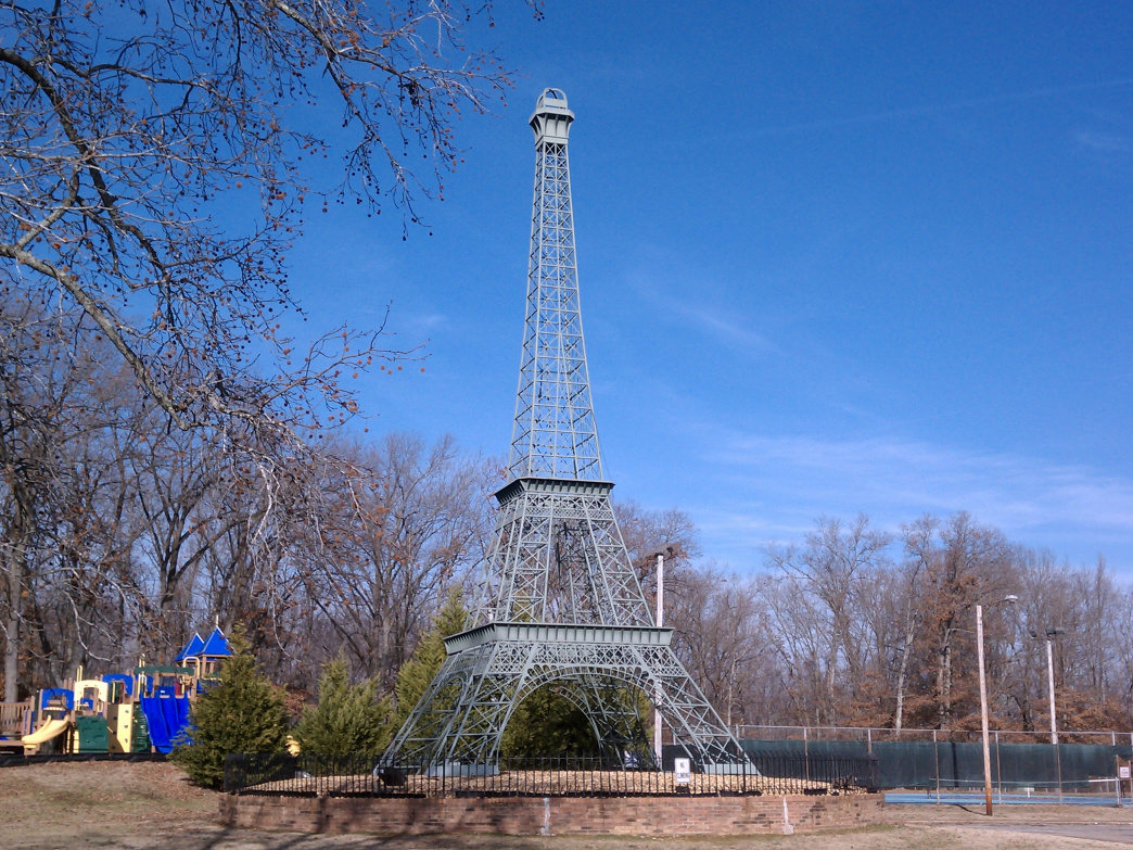 Paris, Tennessee's Eiffel Tower park features a 60-foot replica of its namesake.