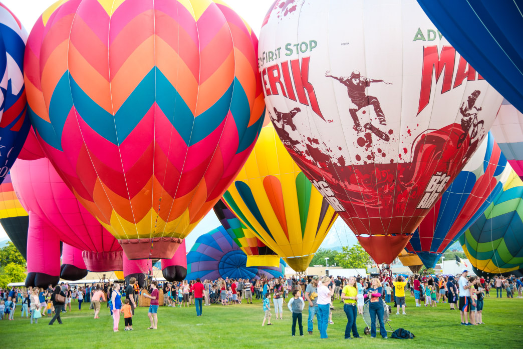 Balloon Fest is just one of the big festivals in Utah Valley during the summer.
