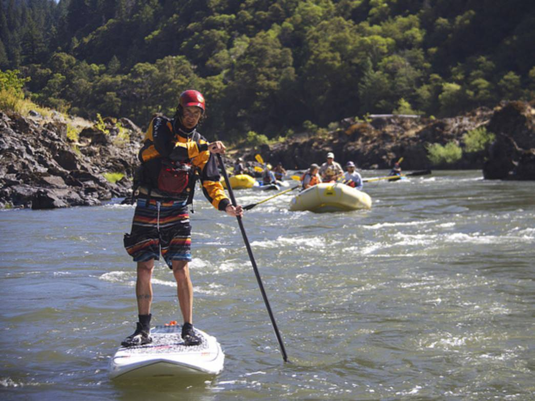 SUPing isn't just for calm lakes. Try your hand at a river adventure.