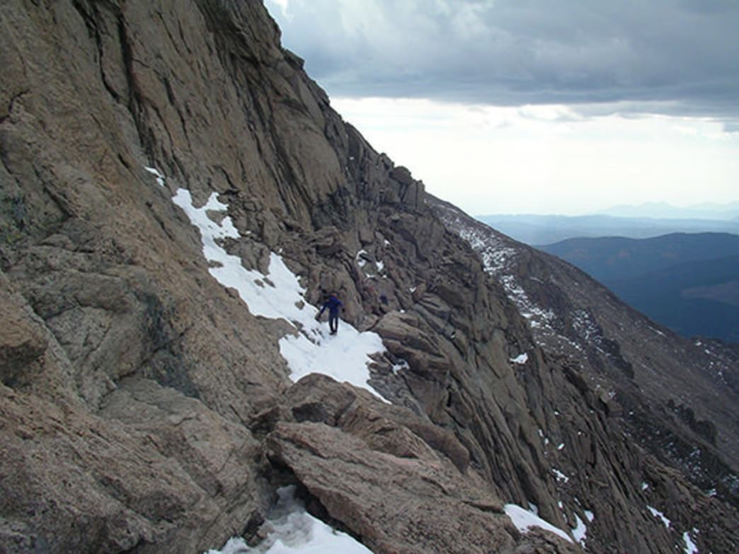 Some of the exposed ledges on the Keyhole route (photo taken in mid- August).