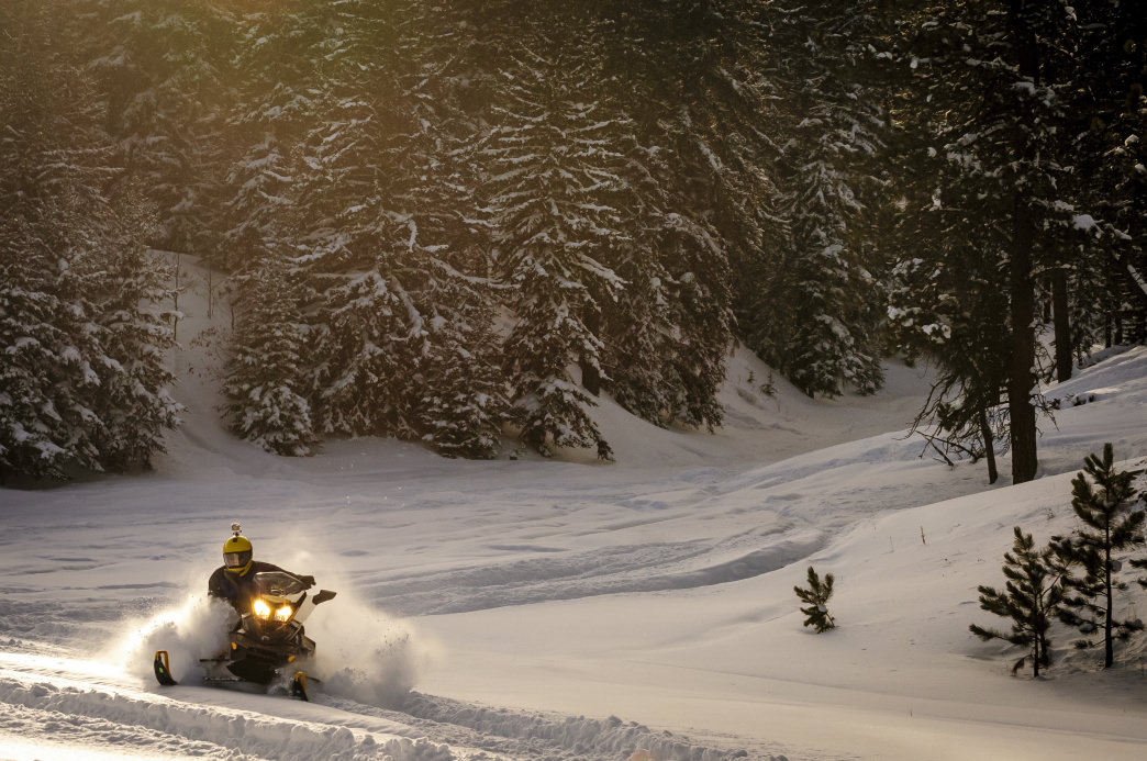 You'll find 1,500 miles of groomed snowmobile trails in South Dakota.