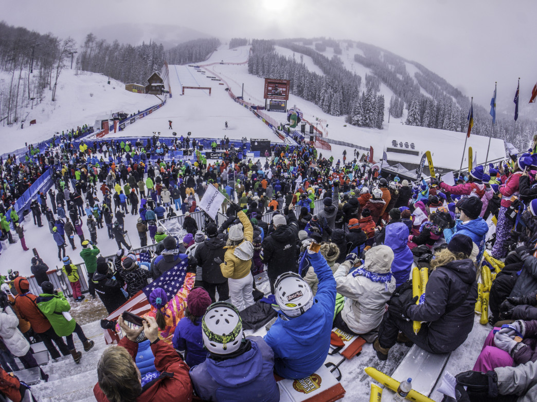 Spectating at the finish at Beaver Creek is always a rowdy good time