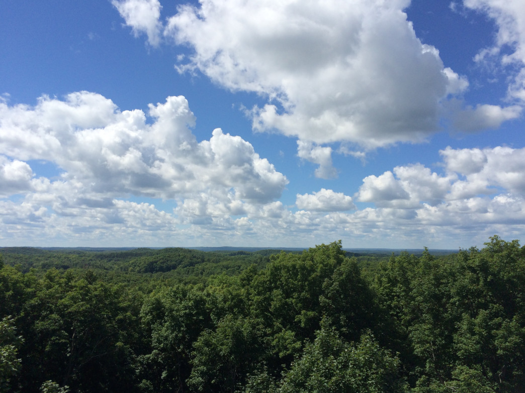 The view from Timm's Hill, Wisconsin.
