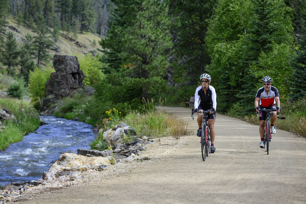 The Mickelson Trail covers more than 100 miles through South Dakota's Black Hills National Forest.
