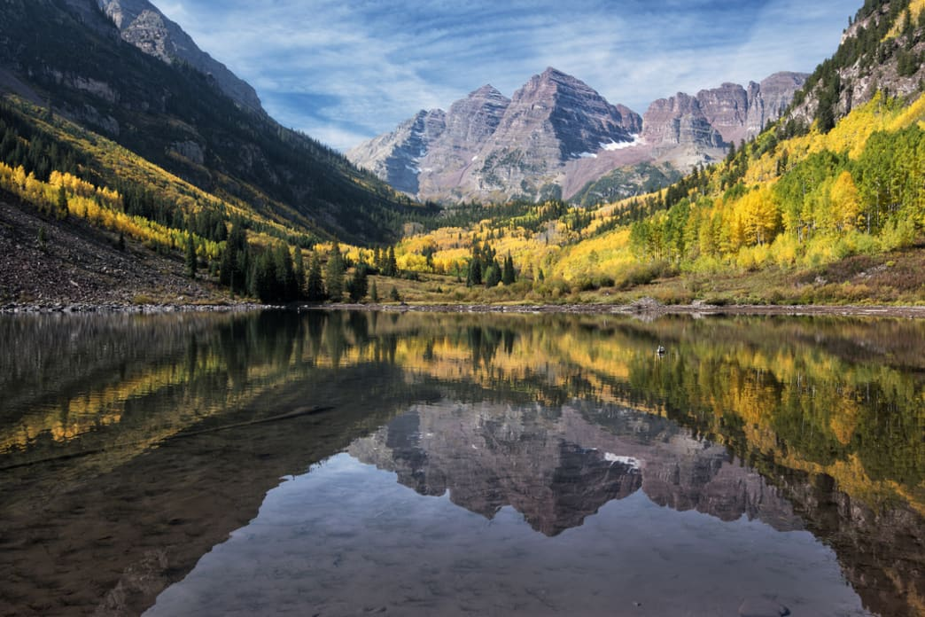 The Maroon Bells in all their glory