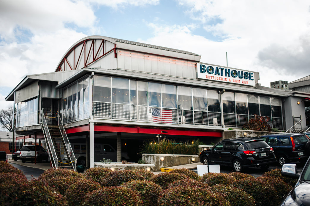 At The Boathouse, you can eat outside on a massive patio overlooking the Tennessee River.     Lauren Brooks
