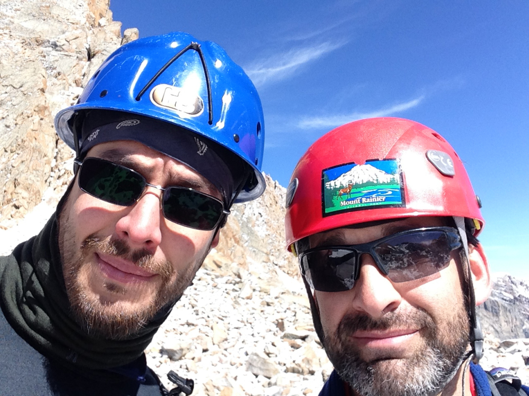 Our selfie at our farthest point. Paul on the left in the blue helmet, the author on the right.