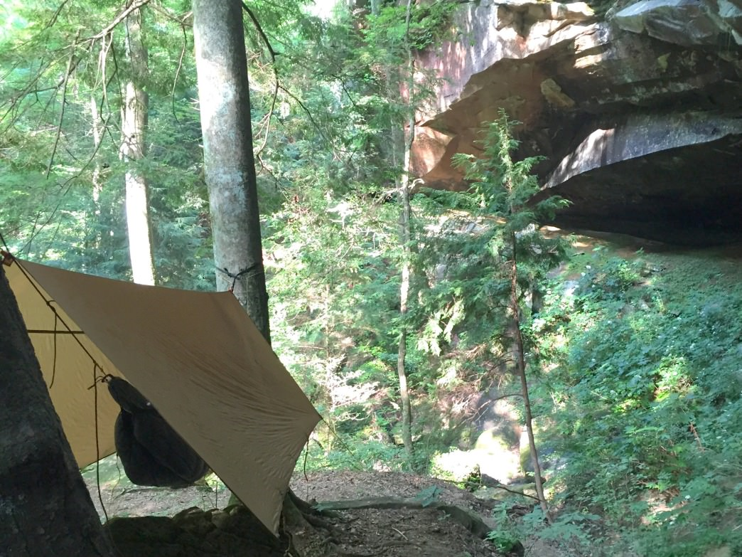 Hammock camping in the Sipsey Wilderness.