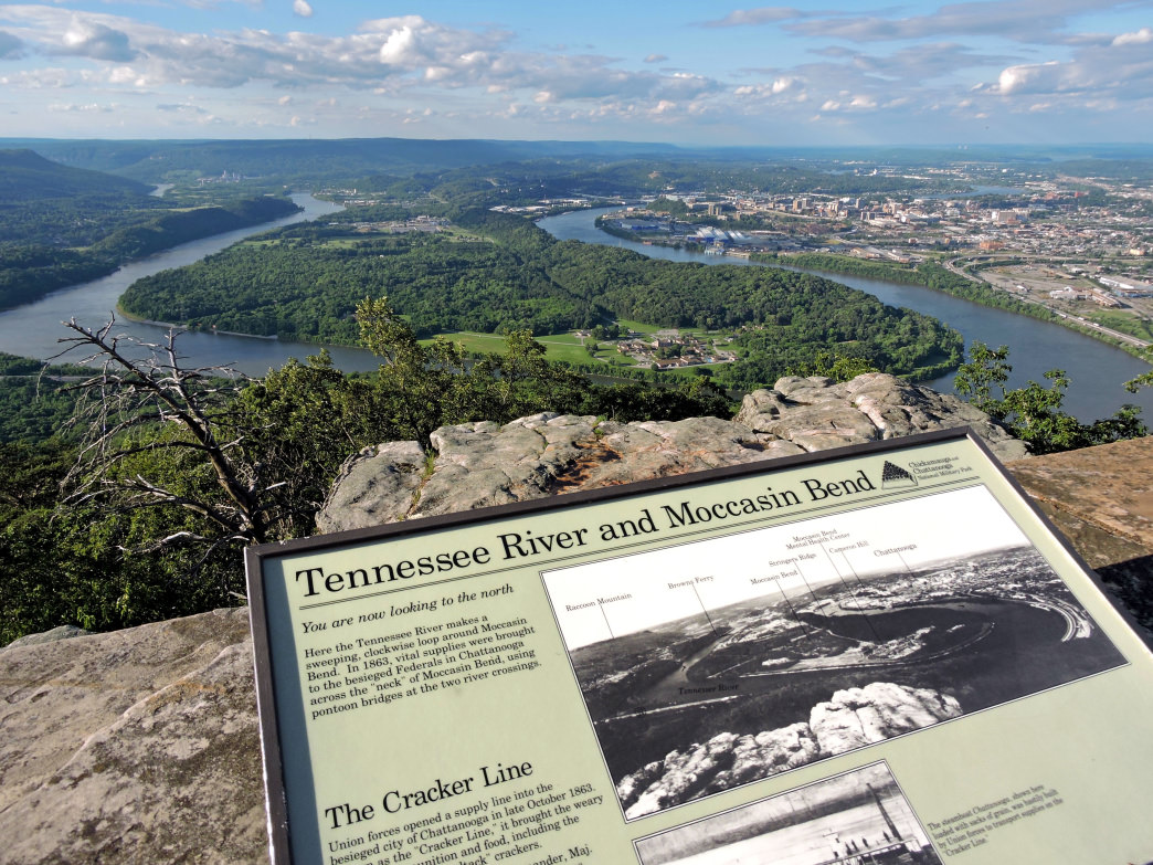 Chattanooga's aptly named Lookout Mountain offers adventure and stunning views.