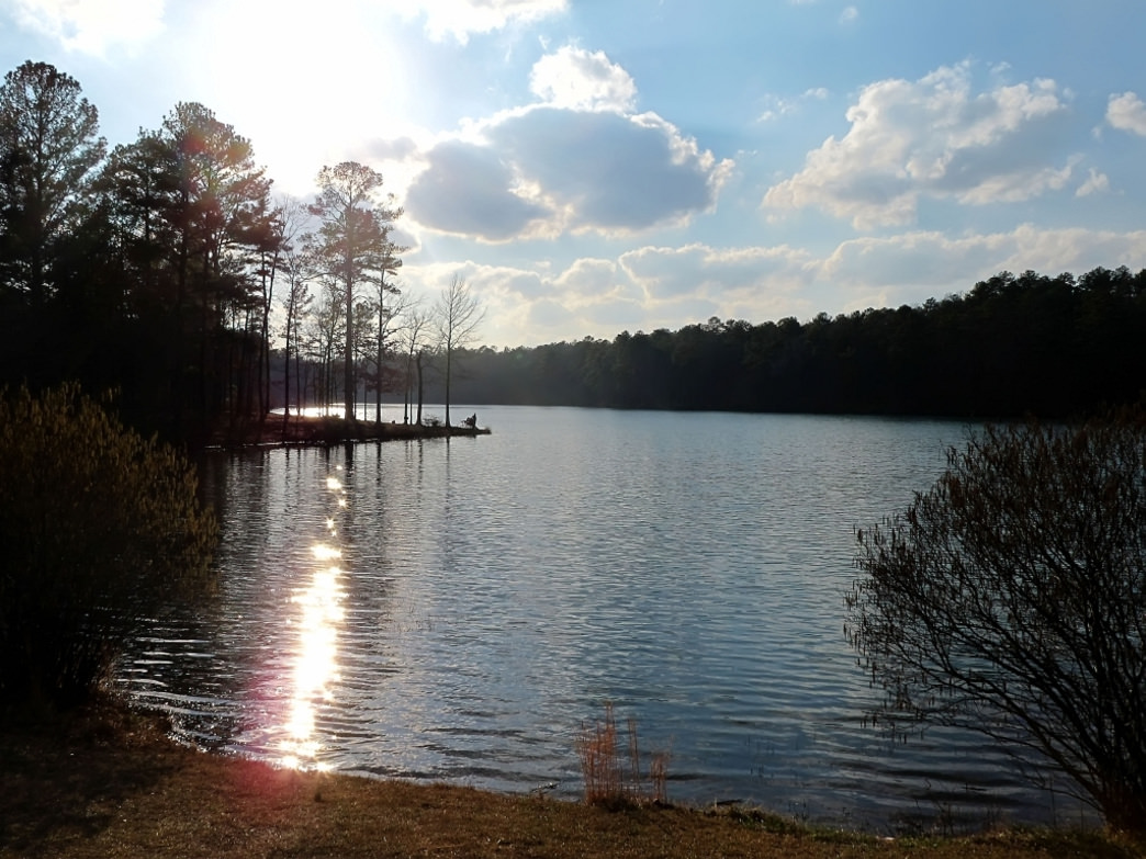 Oak Mountain State Park offers a convenient location to start hammock camping.